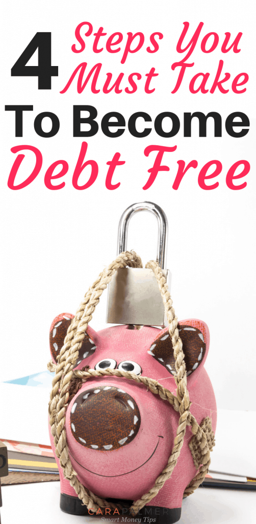 4 Steps You Must Take To Become Debt Free