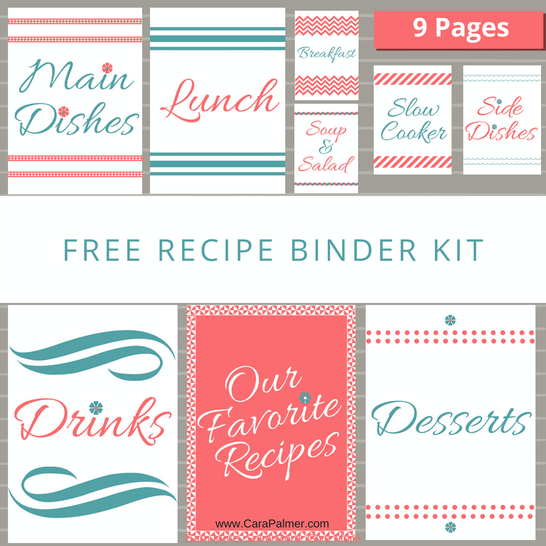 Copy Of Copy Of Free Recipe Binder Kit