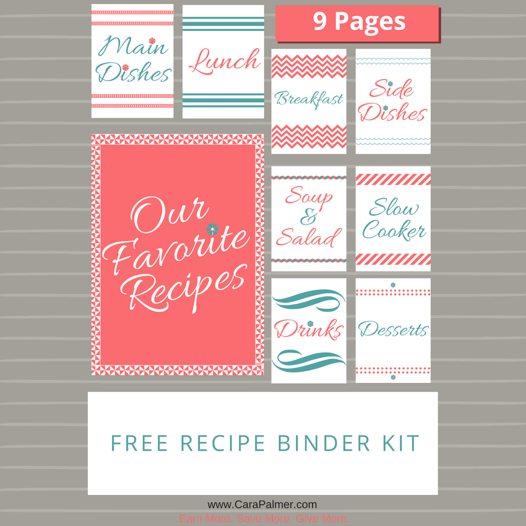 Free Recipe Binder Kit
