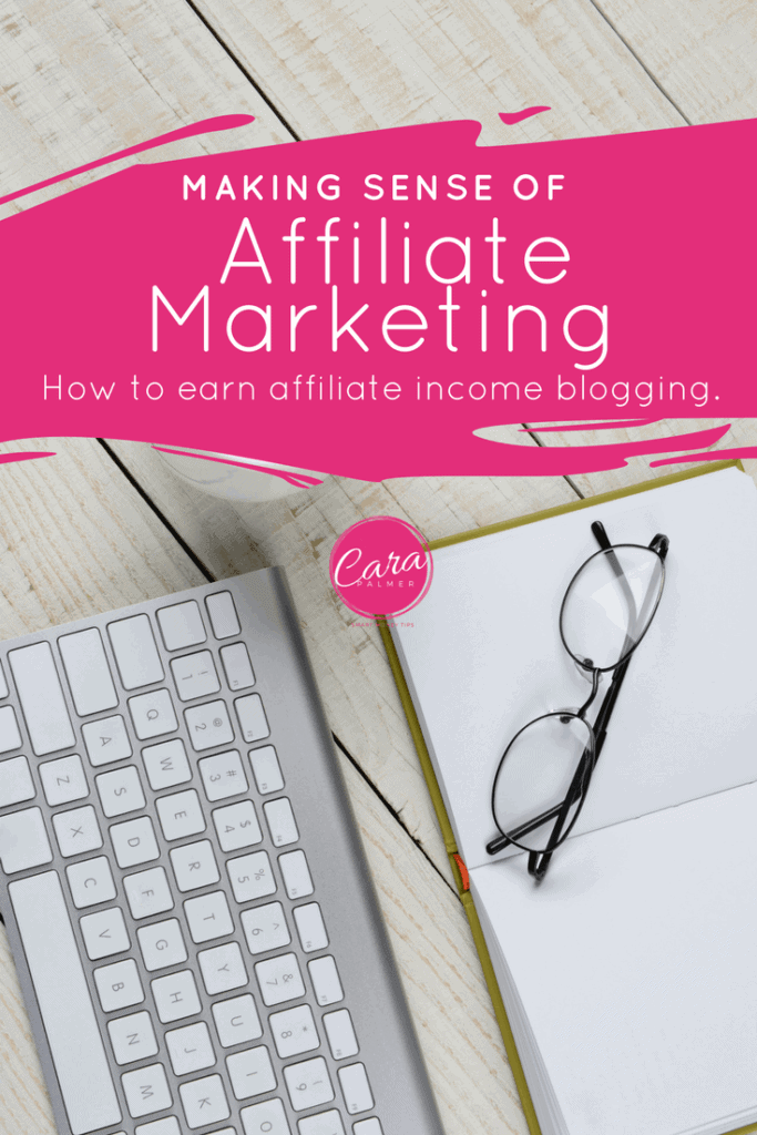How to earn affiliate income blogging.