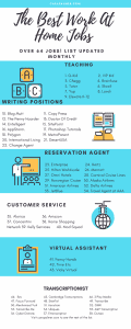 The Best Online Jobs From Home Without Investment Infogragh