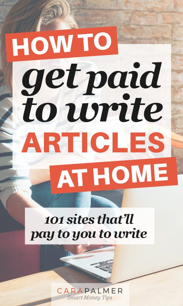 Learn how to get paid to write articles from home