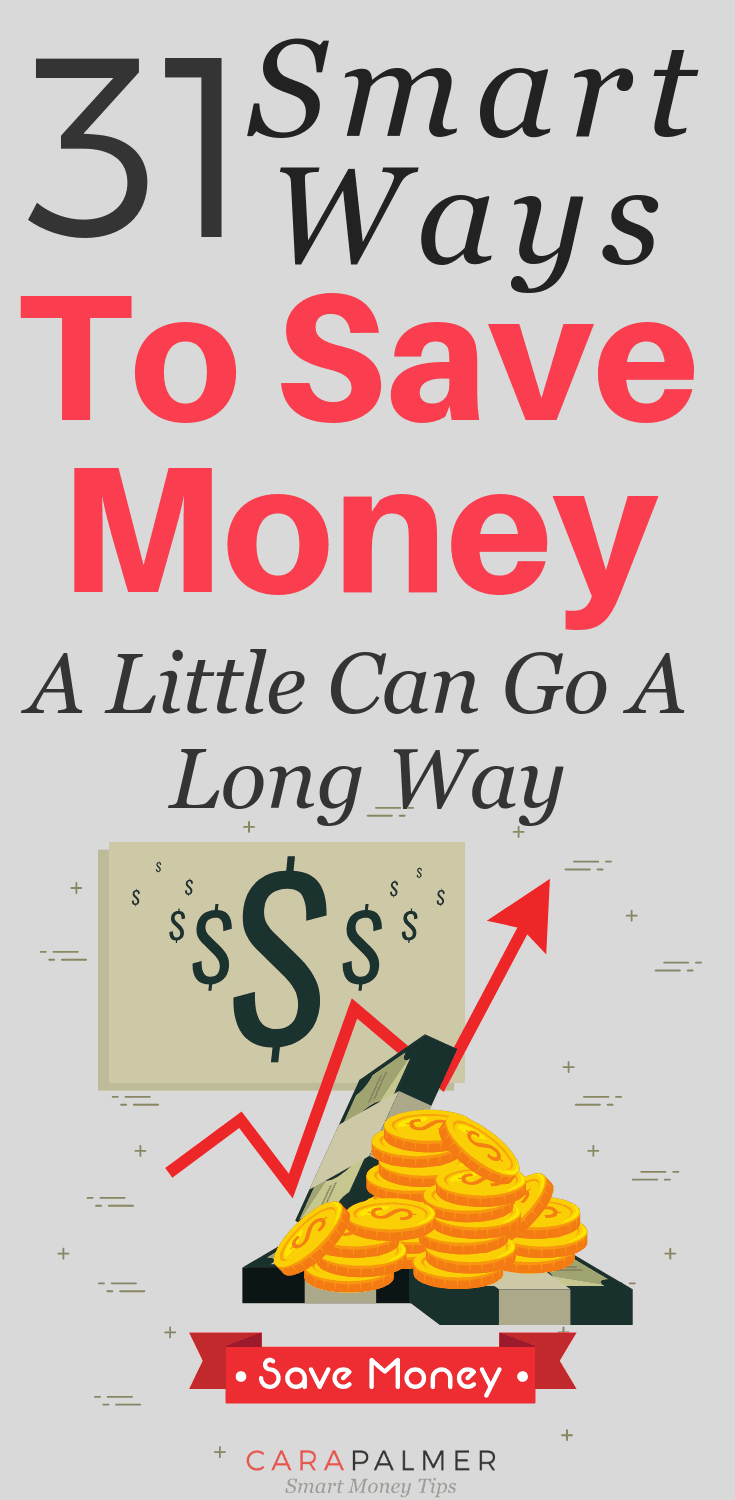 31 Smart Ways To Save Money, A Little Can Go A Long Way. Creative Ways To Save Money.