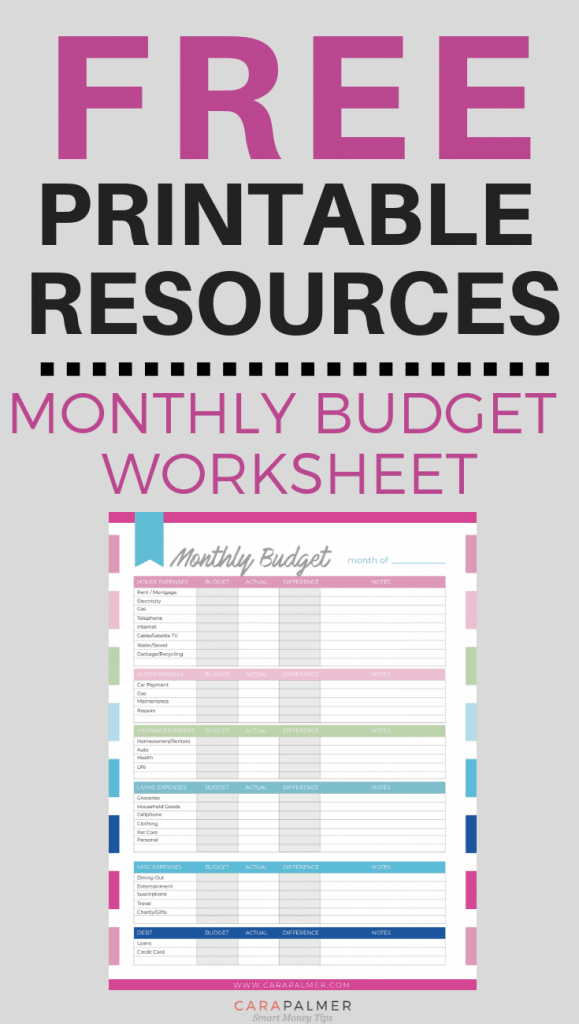 Free Monthly Planner Printables. Budget Planner Printable.