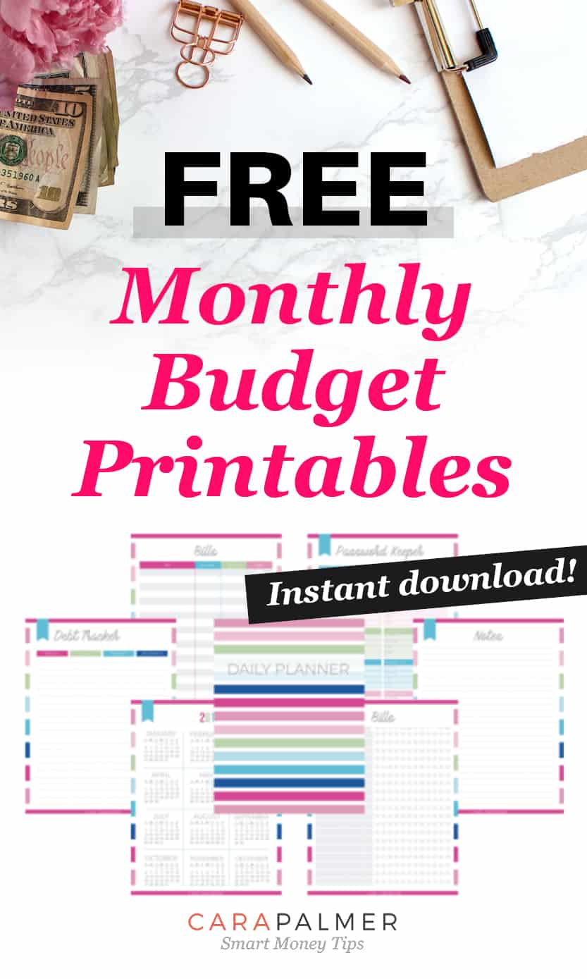 Free Monthly Budget Printables