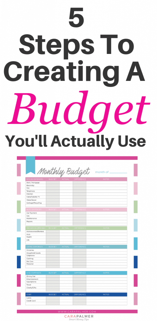 5 Easy Steps To Create A Budget You'll Actually Use