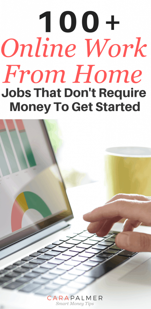 100+ Online Work From Home Jobs That Don't Require Money To Get Started.