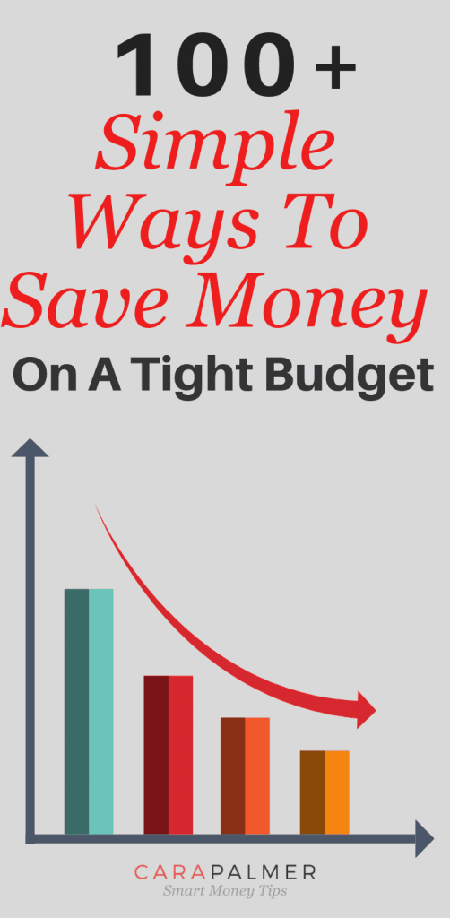 100+ Simple Ways To Save Money On A Tight Budget.