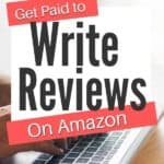 person writing amazon reviews for money