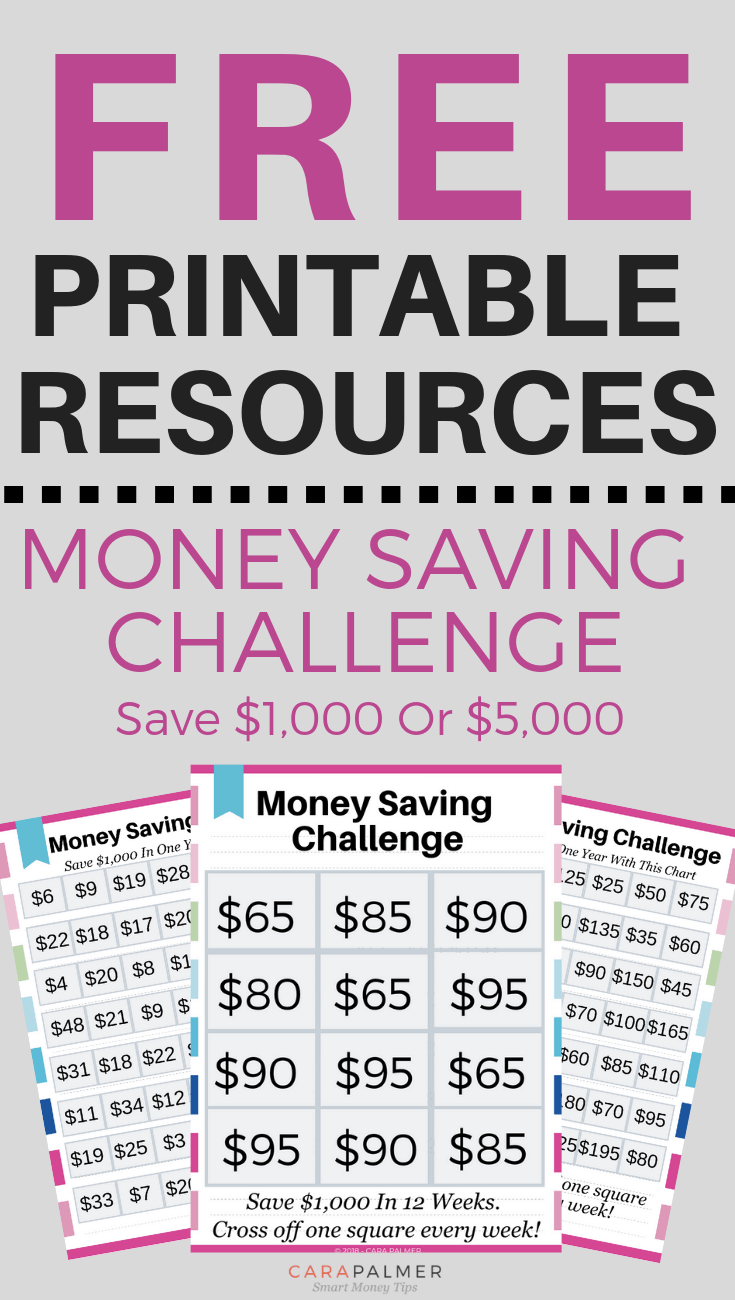 Money Saving Challenge. Save $1,000 In 52 Weeks Or 12 Weeks. Save $5,000 In 52 Weeks.