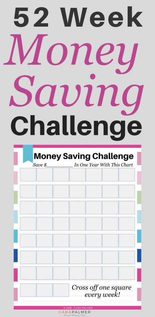 How To Save $1400 With The 52 Week Money Challenge. Free Printable Money Savings Challenge Printable.