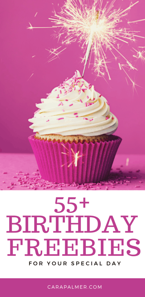 58 Birthday Freebies: Your Guide to Free Stuff On Your Birthday. Free birthday stuff. Free stuff on your birthday. Free birthday food. Birthday discounts. Free makeup on your birthday. Kids birthday Freebies. Restaurants for birthday dinner