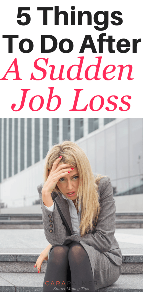 5 Things To Do After The Loss Of A Job. Surviving When You've Lost A Job. Encouragement.