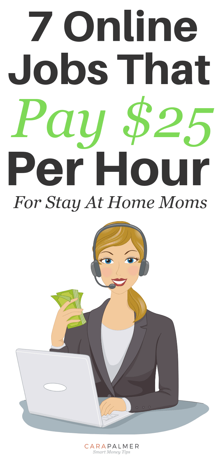 6 Online Jobs That Pay $25 Per Hour For Stay At Home Moms.
