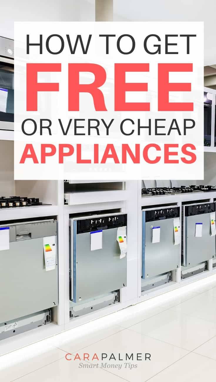 You may qualify for a government program to get appliances for free