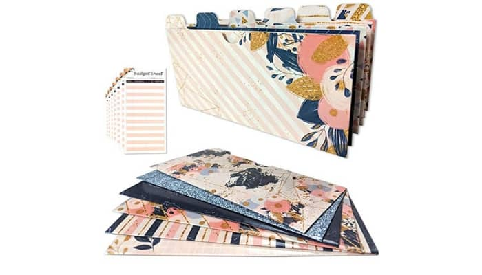 This stylish flower covered envelope wallet system will help you save money.