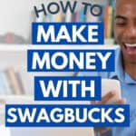 man on laptop making money with swagbucks
