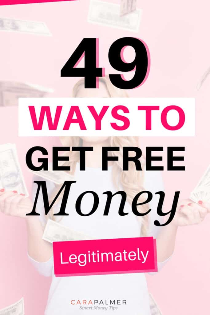 Over forty ways that you can get free money or cash now.