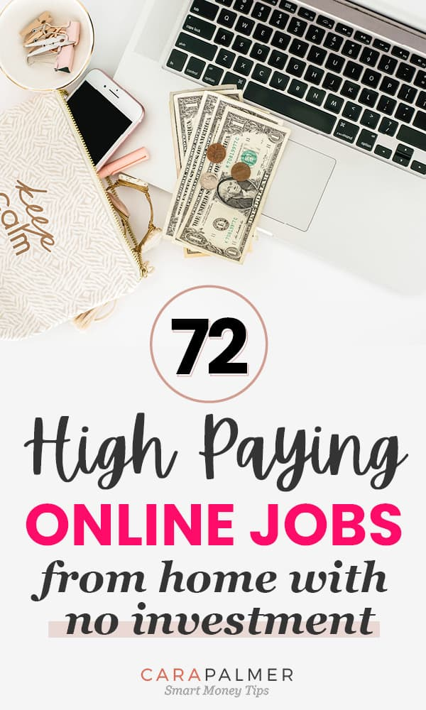 Find A High Paying Online Job That Doesn't Require You To Invest Any Money