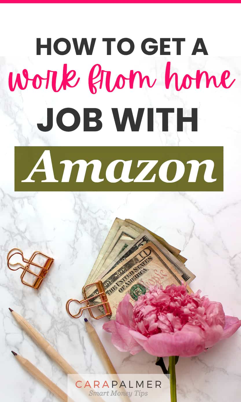 Work from home with a job from Amazon