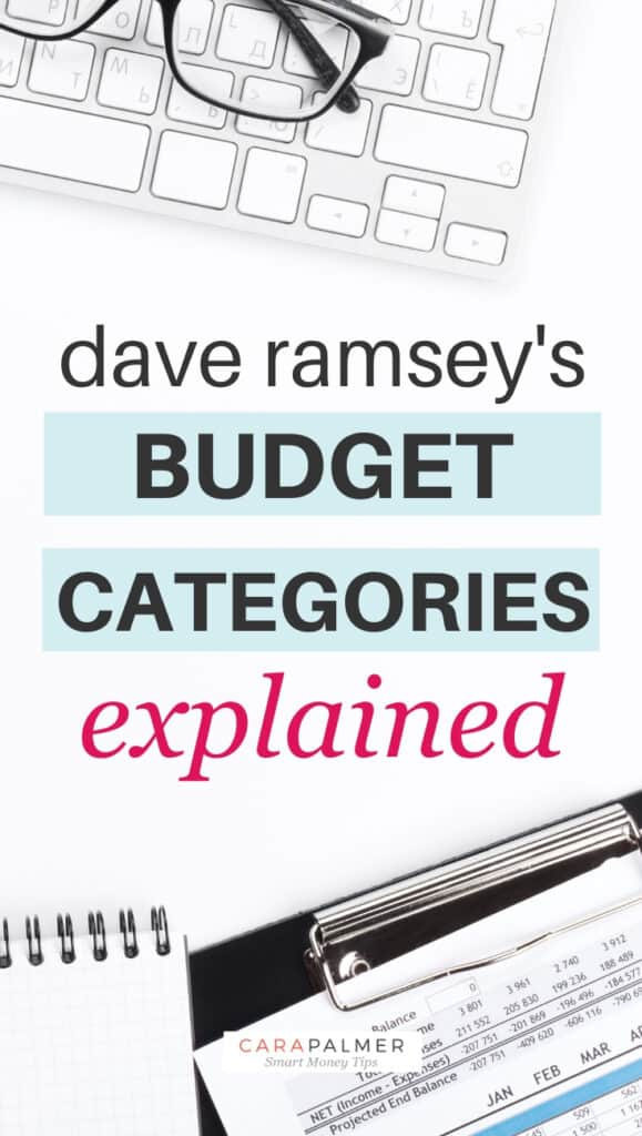 Dave Ramsey's Budget Categories Explained