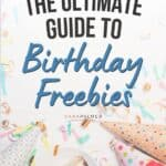free things on your birthday like a hat and cake