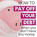 how to get rid of debt with a pink piggy bank