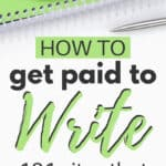 how to find paid writing jobs