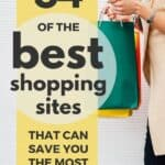 woman shopping at sites like wish