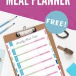 monthly meal planner