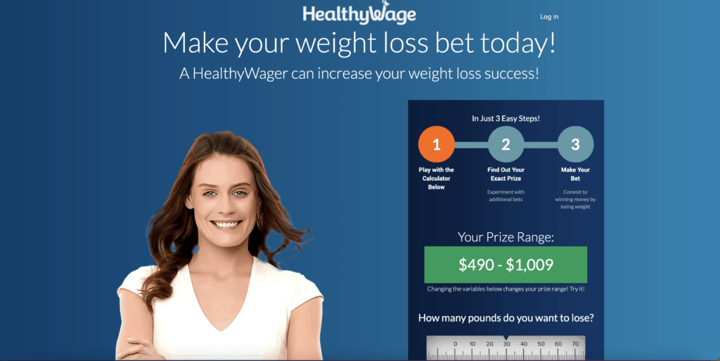 woman with the healthy wage calculator