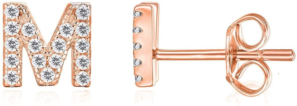 Rose gold earrings are among the best gifts for 12 year old daughter