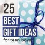gift ideas for 14 year old boys in blue wrapping paper