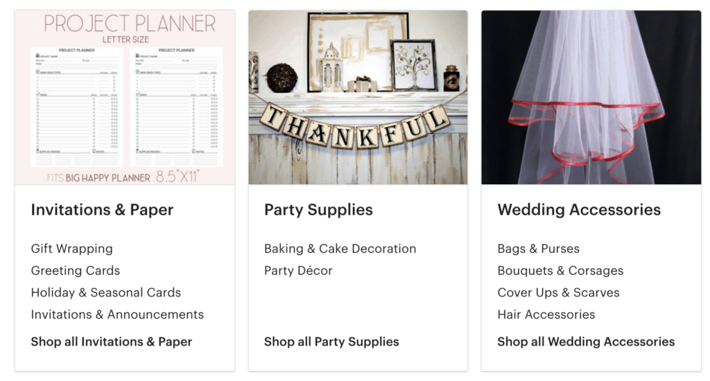wedding items on etsy