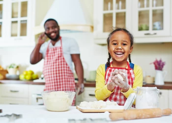 man and girl making money with their cooking hobby