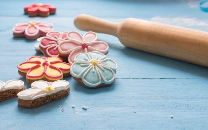 pink and blue cookies are things to sell