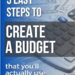 money and calculator to help create a budget in excel