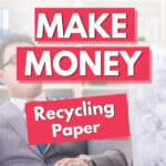 man who is paper recycling for money near me