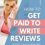 woman who will get paid for writing reviews