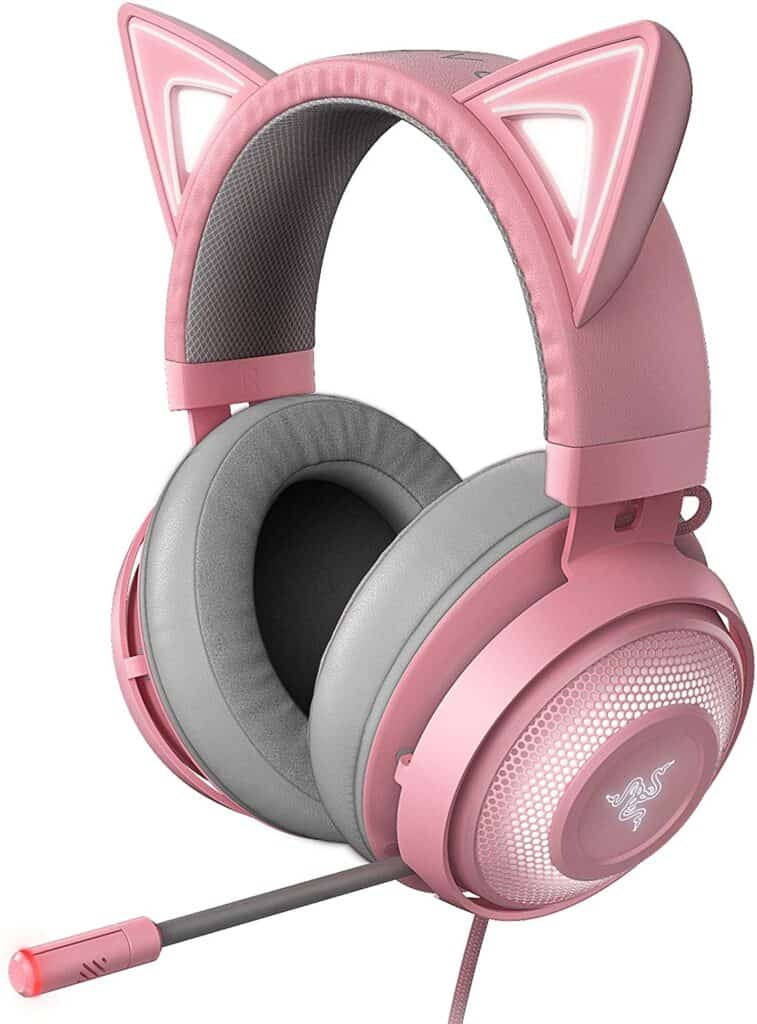 pink cat ears gaming headset