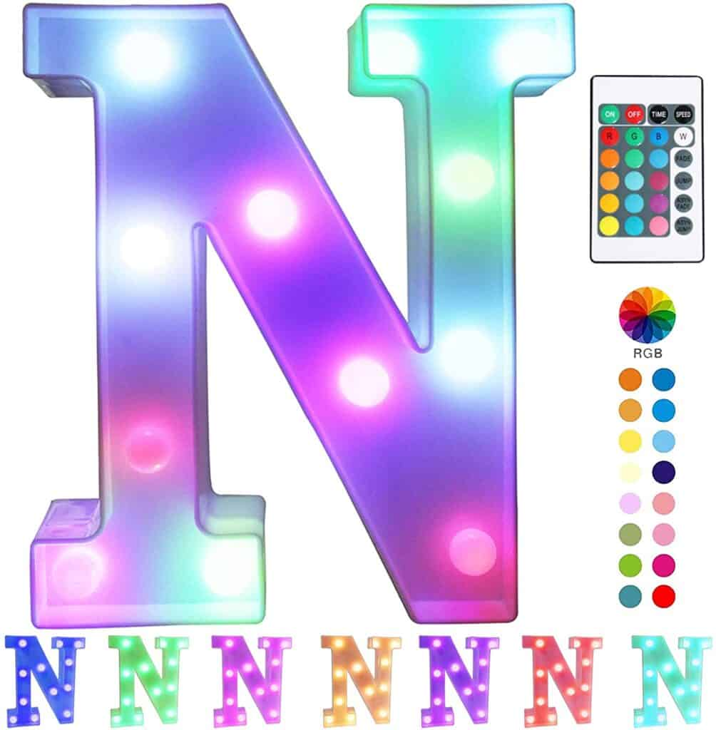 best gifts for 12 year olds is colorful remote control marquee letter