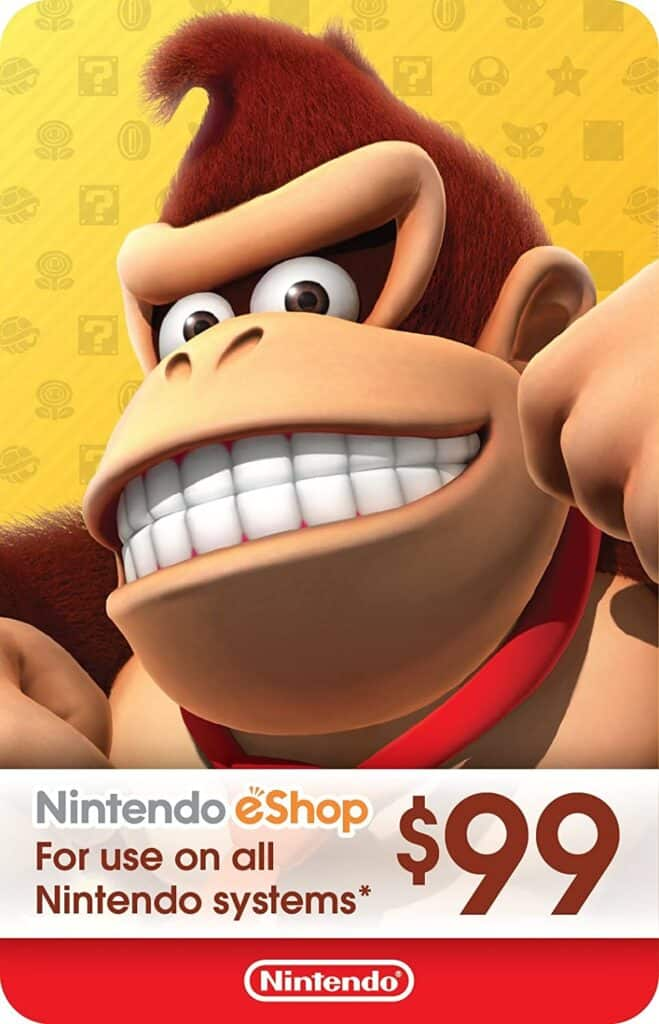 monkey on a gift card
