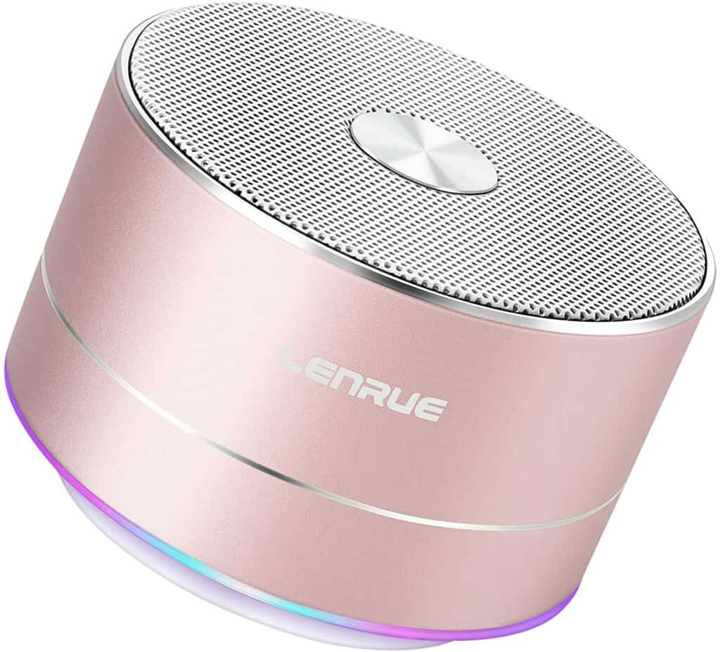 pink portable round speaker is one of the best gifts