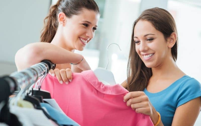 young people buying things to earn money